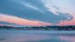 Starnberger See bei Sonnenaufgang / Sonnenuntergang im Winter