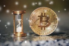 The Physical Bitcoin And Hourglass Show The Time Is Coming, Winter Is Came