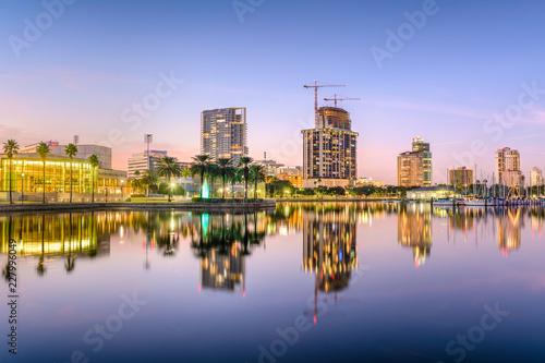 Photo Stands St. Petersburg, Florida Skyline