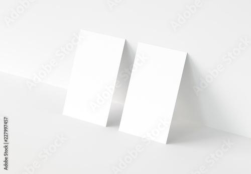 Valokuva  Vertical Business Card Mockup. 3d rendering.