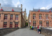 Streets Of Bruges Old Town, Be...