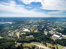 Aerial View Of Typical Southern Suburbs In Atlanta Georgia