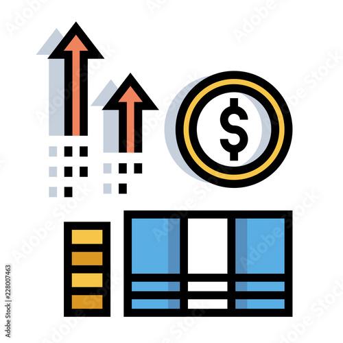 Fotografía  Income LineColor illustration