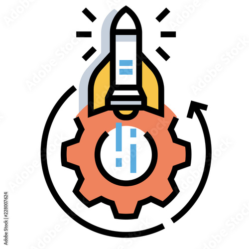Fotografía  Execution startup LineColor illustration