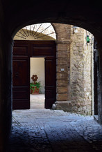 Courtyard Of Old Town Building...