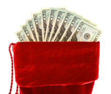 Christmas: Christmas Stocking With Money