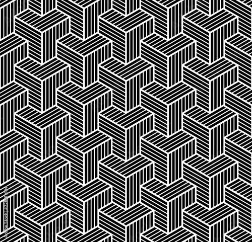 bezproblemowa-geometryczny-wzor-izometryczny-iluzja-3d