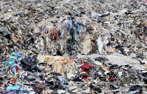 Fototapeta Textile waste in Bangladesh