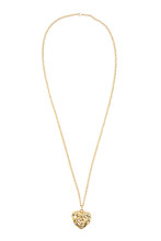 Heart Shaped Gold Necklace On ...