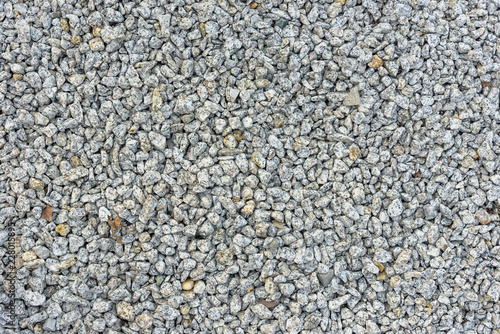Background made of gray pebbles Wallpaper Mural