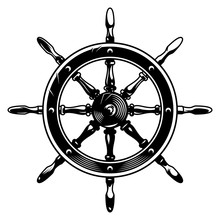 Vintage Monochrome Ship Wheel Concept
