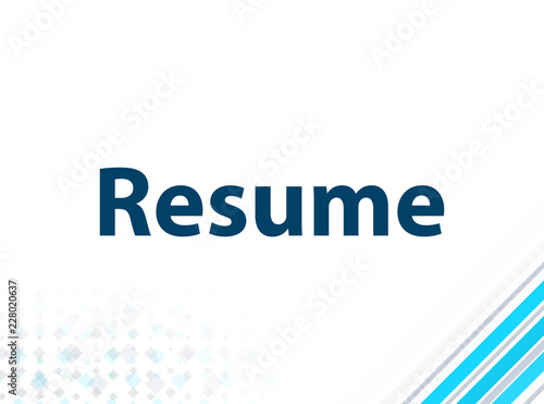 Resume Modern Flat Design Blue Abstract Background Buy This