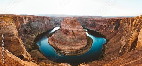 Spoed Foto op Canvas Verenigde Staten Horseshoe Bend at sunset, Arizona, USA