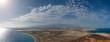 Panorama view of Tenerife Island - aerial landscape