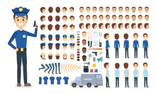 Police Officer Character Set For The Animation