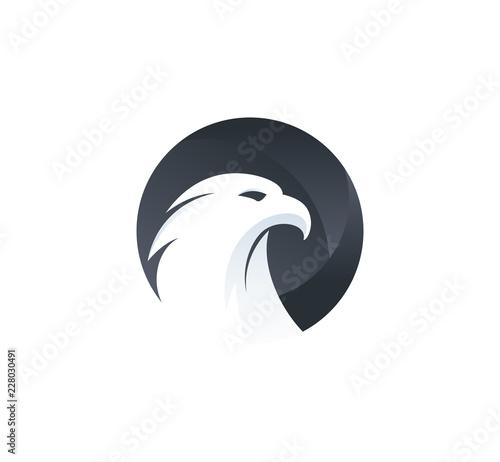Fototapeta premium potężny orzeł wektor ikona inspiracja projektowaniem logo