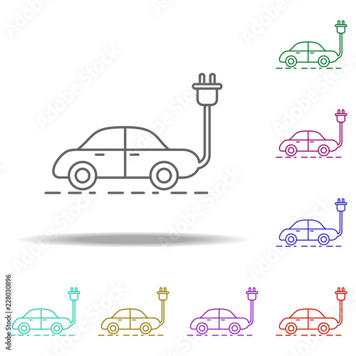 Electric Car Outline Icon Elements Of Ecology In Multi Color Style Icons Simple For Websites Web Design Mobile Info Graphics