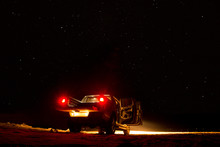 Pickup At Night On The Beach
