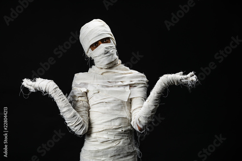 Fotomural Studio shot portrait  of young man in costume  dressed as a halloween  cosplay o