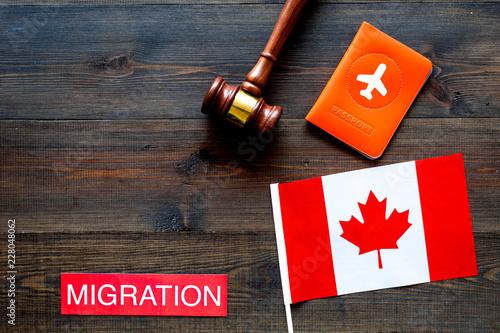 Fényképezés Immigration to Canada concept