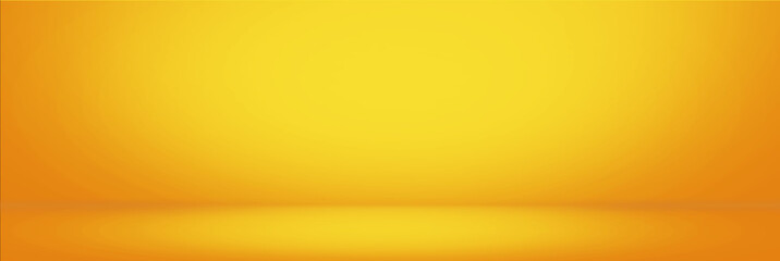 Yellow gradient wall and empty studio room background