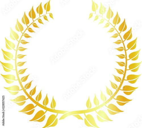 Round frame of gold laurel Canvas Print