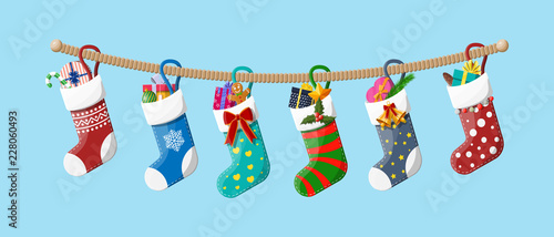Christmas sock stocking Canvas-taulu