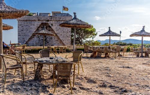 Fotografie, Obraz  Platz Wehrturm Castell de la Punta de na Amer Naturschutzgebiet Mallorca