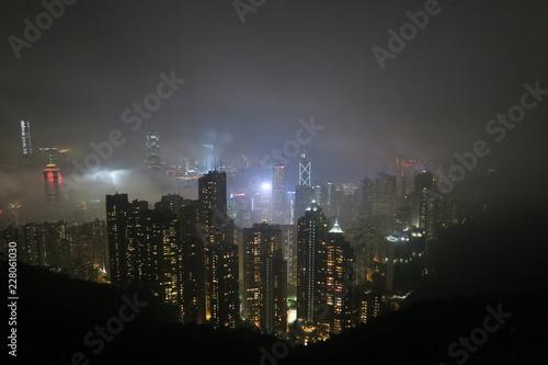 Photo  香港 ビクトリアピーク 夜景