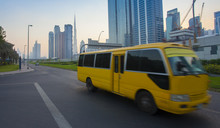 Dubai City Downtown And Bus Mo...