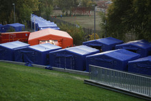 Tents At A Camp Site For Refug...
