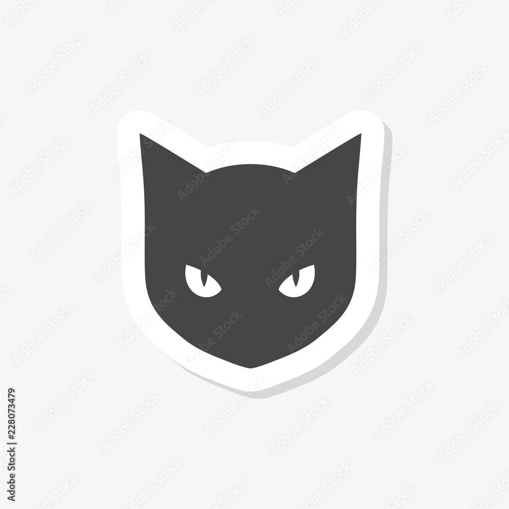 Black Cat Logo sticker
