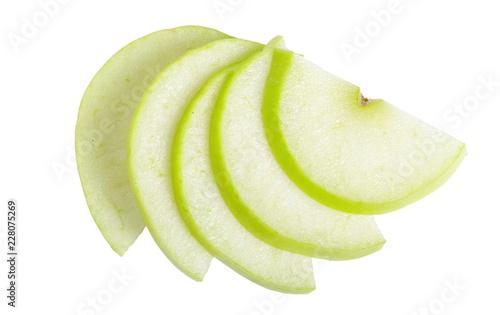Pinturas sobre lienzo  Sliced green apple