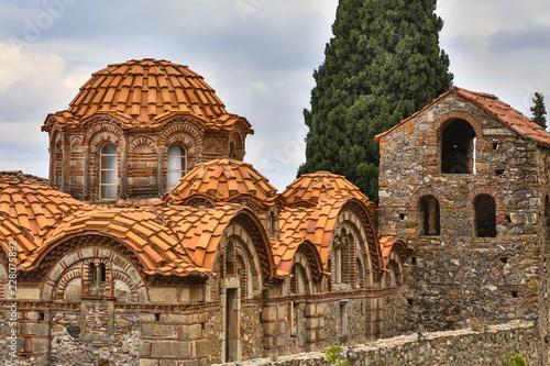 Byzantine monastery in Mystras Greece