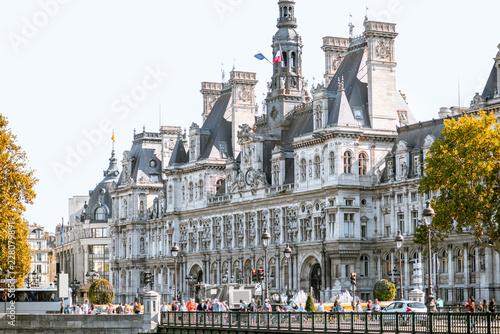 Keuken foto achterwand Historisch geb. City Hall building housing the City of Paris's administration