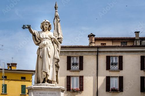 Brescia, monumento in piazza della Loggia Canvas Print