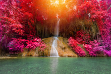 Beautiful Waterfall In Rainforest At Phu Sang Falls Phoyao, Thailand