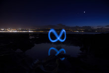 Light Painting On El Confital
