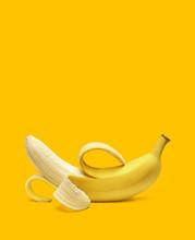 Peeled Banana Isolated On Whit...