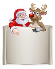 Santa Claus And His Reindeer C...