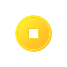 Feng Shui Chinese Coin Icon. C...