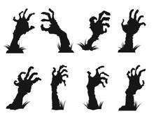 Zombie Hands Icon Set