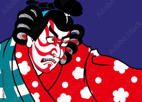 Obraz na płótnie 歌舞伎のアート