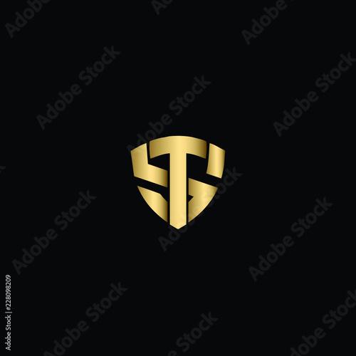 Creative Solid Minimal Letter St Logo Design In Vector