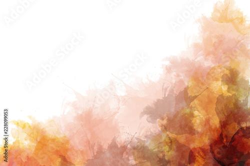 Wall Murals Vineyard Orange watercolor background