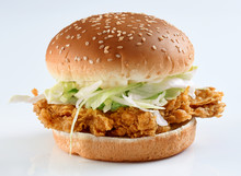 Chicken Zinger Burger, Crispy ...