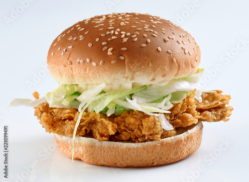 Chicken Zinger Burger, Crispy Chicken Fillet with fresh and soft round thick bread