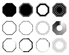 Octagon Icon Pack. Geometry Oc...