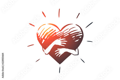 Fotografía Empathy, heart, love, charity, support concept