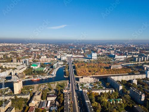 Poster Havana Aerial: Cityscape of Kaliningrad in autumn